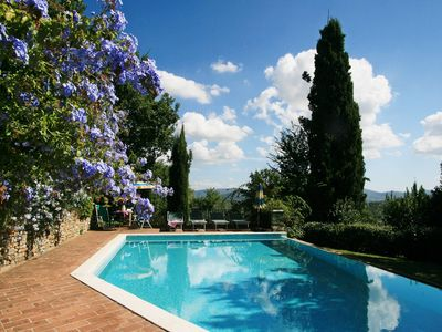 Photo for Stone cottage with private pool up to 5 people near San Gimignano