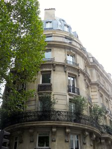 Typical French building on Boulevard Saint Germain's most elegant spot.