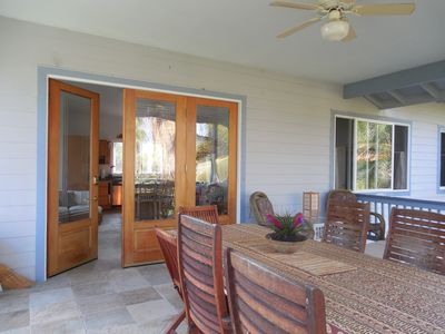 Enjoy breakfast and dinner out on the Lanai