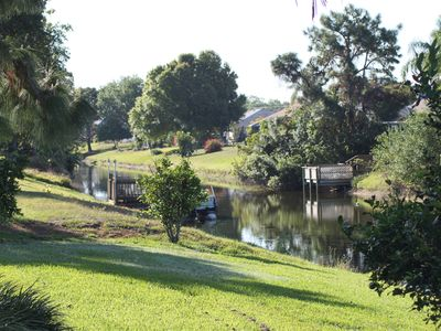 Photo for Gulf Tranquility-Luxury Pool Home backing onto canal,