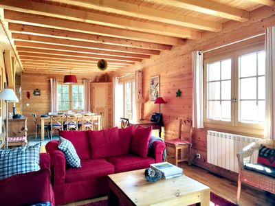 Photo for ST-GERVAIS/MT-BLANC, spacious new chalet  rated 4****  with panoramic views