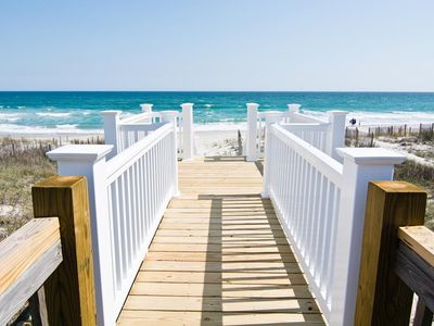 Photo for A Family-Friendly Dream Vacation - Oceanfront Beach Retreat - Private Tiki Bar/Cornhole and Horse...