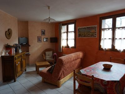 Photo for Ground floor apartment located on a small village square