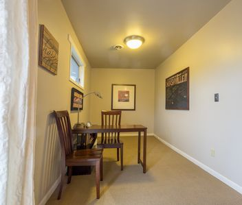 There's a roomy office nook off the living room with wi-fi.