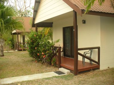 Photo for Luxury villa set in tropical surrounds with salt water pool & covered carpark !!