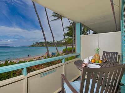 Panoramic ocean views form the lanai