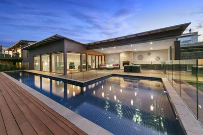 Outdoor Entertaining with solar heated pool