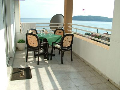 Photo for Panoramic view apartment  in Rafailovici. 200 m from sandy beaches.