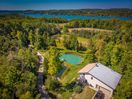 We're on the other side of the road, that's Lake Leelanau in this overhead shot