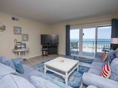 Photo for Updated Beachfront Condo. Views for Miles! Close to Everything!