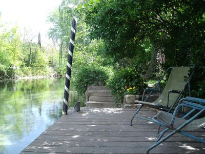 Photo for pretty independant cottage on the edge of a river on an island