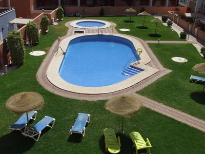 Photo for Holiday Apartment, Pool View, Large Terrace, Air Conditioning, near Beach, wifi