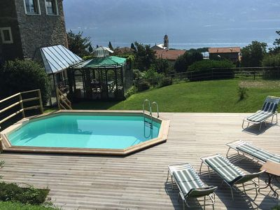 Photo for Villa La Dolce, is a nice villa with private pool, facing Lake Como, 4 bedrooms 4 bathrooms