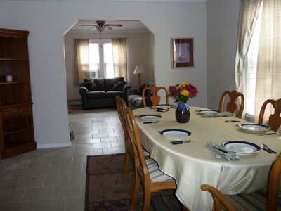 Photo for BEAUTIFUL BAY FRONT LOCATION! Short walk to beach, restaurants and Jitney!