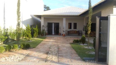 Photo for House high standard 3 bedrooms (2 with air), 5 parking spaces, 400 meters from the beach