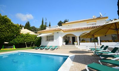 Photo for 7 bedroom Villa, sleeps 17 with Pool, Air Con, FREE WiFi and Walk to Shops