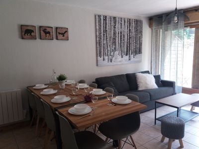 Photo for beautiful apartment 6-8 people, calm, foot track, near the lake of the buissonnière