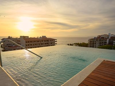 Photo for Gorgeous apartment one block from the beach in Puerto Vallarta