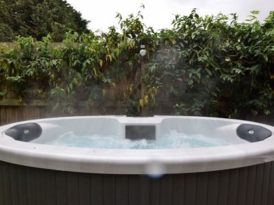 Spoil yourself with a soak in the hot tub