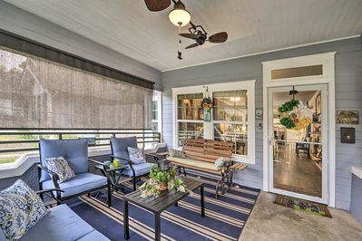 Hang out at the screened-in front porch.