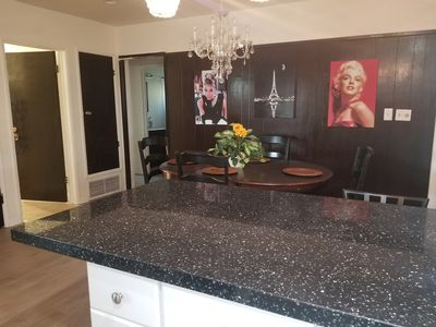 BEAUTIFUL BLACK GRANITE WITH GOLD AND DIAMOND REFLECTION.