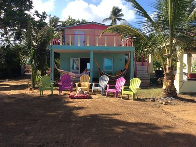 Photo for Beach House With Gazebo, BBQ. Private Home With Direct Beach Access sleeps 12.