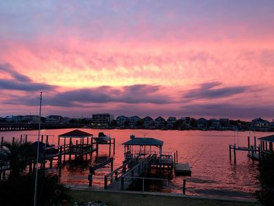 Photo for Creasy Cottage - The best sunsets on Wrightsville in this top floor duplex
