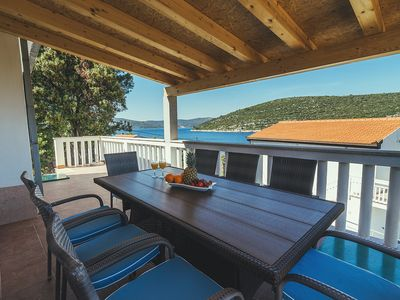 Photo for BEACH HOUSE ON ISLAND, HEATED POOL,PRIVAT BEACH, SPLIT COUNTY