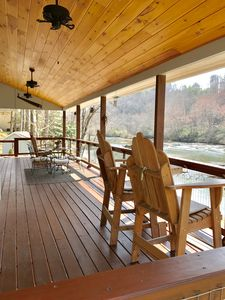Photo for Riverfront Cabin in the Mountains near Bryson City and Cherokee includes Taxes