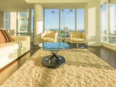 Photo for Panoramic Views from 12th Floor Luxury Condo, AC, Pool and Parking