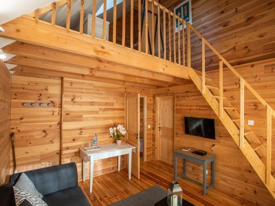 Photo for Modern wooden house quiet (private bathroom / breakfast)