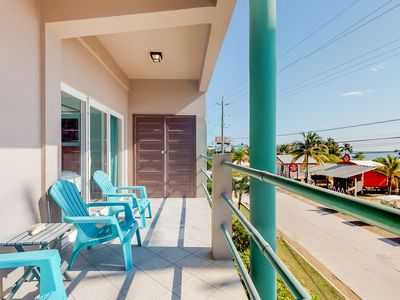 Photo for Ocean view second floor condo with private balcony overlooking the Caribbean