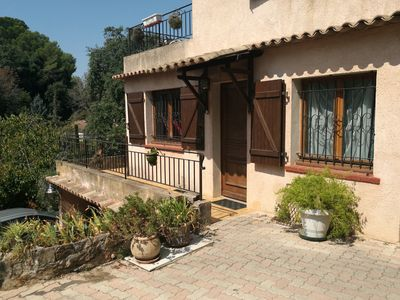 Photo for House 75 m 2 any comfort, terrace, swimming pool, calm, very close to the sea.