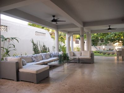 Large Terrace with Poolside HD Projector and surround sound throughout