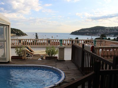 Photo for Villa with swimming pool grandiose view of bay of Villefranche / sea 2 steps from beaches