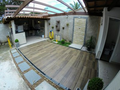 Photo for 4 bedroom house renovated with barbecue near the beach - up to 18 people