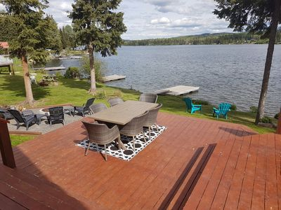 Photo for Beautiful modern house on Deka Lake with private dock and hot tub.