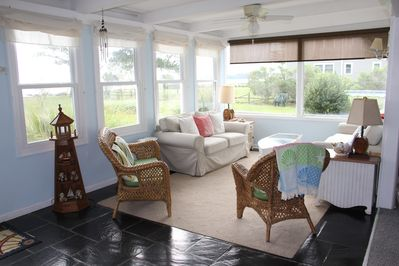Front Florida room with beautiful wide views of the Potomac