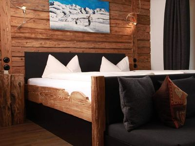 """Photo for Double room Deluxe """"Summit space"""" BLACK - Landhaus Bromm"""
