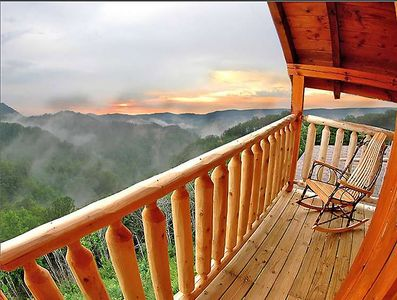 You'll have the most beautiful views especially after a summer rain from 3 decks