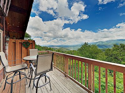 Photo for Chalet w/ Epic Smoky Mountain Views, Private Hot Tub, Billiards & Foosball