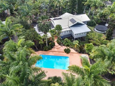 Photo for NEW! Hale Oliveira: Private Home on 1.85 Acre Palm Plantation with Pool and Tiki Bar!