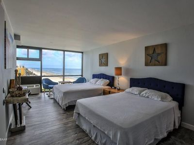 Photo for Beachside Daytona - 1100 Square feet with Ocean Views in 3 rooms! Sleeps 10