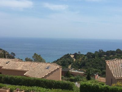 Photo for mezzanine studio with magnificent sea view, 300 m from the beach of bonporteau