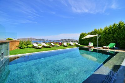 Spectacular views from Mon Reve's private pool which is at lower garden level