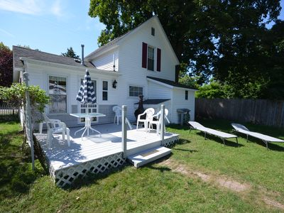 Centennial home with guest house in Empire. Walk to the beach. Pet-friendly.