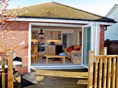 Photo for Charming 4 Star, Gold Award holiday home 1 mile from Weymouth beach and harbour