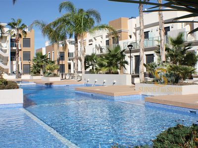 Photo for Beautiful ground floor apartment in ZeniaBeach Costa Blanca with pool view-4p.