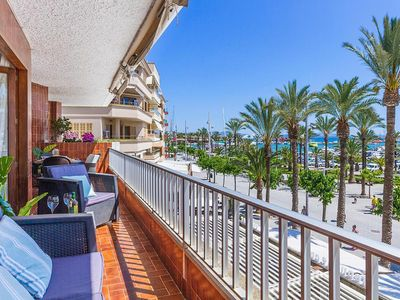 Photo for Air-Conditioned Apartment with Marina and Sea View, Terrace & Wi-Fi
