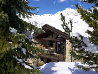 Photo for VAL D'ISERE, TIGNES,  CHARMING SKI CHALET  self-catering rental, sleeps14, 6 real bedrooms, large livingroom, open log fire